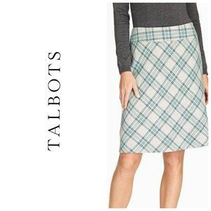 TALBOTS Wool Tartan Plaid Skirt